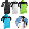 SPIRO MEN'S ZIPPED TOP BIKEWEAR CYCLING PRO FIT LIGHTWEIGHT COLL DRY LAYER UV