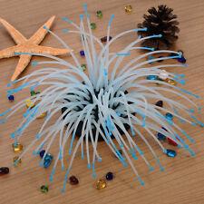 Silicone Sea Anemone Plant Artificial Coral Ornament Aquarium Fish Tank Decor