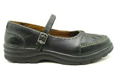 Dr Comfort Paradise Black Leather Adjustable Mary Jane Shoes Women's 11 XW