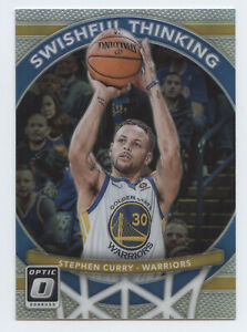 2017-18 Donruss Optic Stephen Curry Silver Prizm Swishful Thinking Warriors