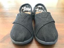 Authentic TOMS Classic Toddler Black Slip On Shoes New Never Worn Size T9