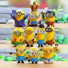 10pcs/set 3-5cm Minions Despicable me Minion 3D eyes toy dolls Anime Cartoon