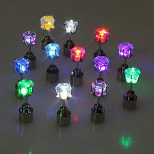 one Pair LIGHT UP LED EARRINGS STUDS Blinking ACCESSORIES FOR PARTY/FESTIVAL
