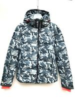 Superdry Mens Ski Command Utility Hooded Jacket Black Ice Camo SIZE S L NEW