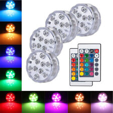 LED Piscina Estanque Luces Subacuática RGB Lámpara Mando a Distancia Para Jarrón