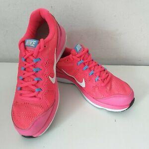 Nike Dual Fusion Run 3 Pink Running Trainers Gym Run Workout Size UK 4