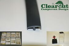 2mm Slot Cutter + 10m Campervan Knock on T-trim, Double Lipped, Dark Grey, 15mm