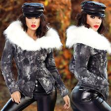 FOGGI Damenjacke Blazer Mantel gefütterte Winterjacke Jeansjacke 34 - 40  #F638