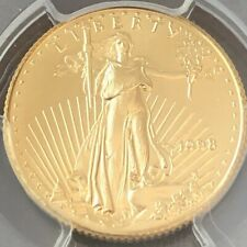 1998 $10 Gold Eagle MS 69. TOP POP (None Higher) (Population 62 Coins MS 69)