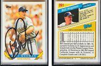 Bill Wegman Signed 1993 Topps #261 Card Milwaukee Brewers Auto Autograph