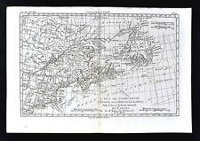 1779 Bonne Map United States Canada Nova Scotia Newfoundland New England Maine