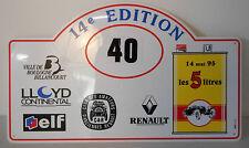 club renault 5 litri 14 maggio 95 , rally plate , targa in plastica