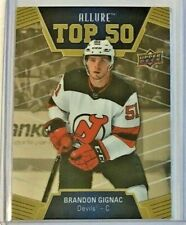 Brandon Gignac Top 50 insert 2019-20 Upper Deck Allure 🏒 New Jersey Devils