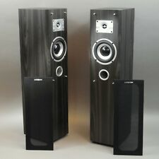 Luxeon Floor Standing Tower Speakers Charcoal Gray 4 OHM