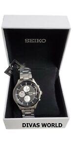 SEIKO Men's Wristwatch Water Resistant Chronographic Analog 100m Valentine Gift