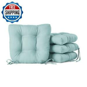 """Chair Seat Pad Cushion Soft 14x14"""" Indoor Dining Home Decor Microfiber 4-Pack"""
