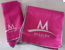2 pc Mission Enduracool Instant Cooling Fabrics - Towel & Bandana - Pink - New@
