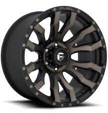 """Fuel D674 Blitz 18x9 6x5.5"""" +1mm Black/Machined/Tint Wheel Rim 18"""" Inch"""