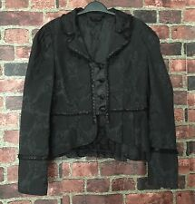 LIVING DEAD SOULS Goth Steampunk Victorian Jacket Blazer Cropped Lined Size L