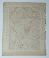 MONADNOCK Quad Topo Map 1898 New Hampshire Jaffrey Troy Dublin Marlboro NH