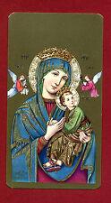 SANTINO Nostr Signora del Buon Consiglio  IMAGE PIEUSE - HOLY CARD-