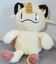 """POKEMON #52 MEOWTH Soft Toy Plush 10"""" NINTENDO HASBRO Vintage 1998"""