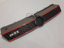 VW POLO 6R 2010-2014 Front Radiator Honeycomb Grill GTI Black Red Strip NEW