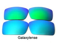 Galaxy Replacement Lenses For Oakley Gascan Small Blue&Green Polarized 2Pairs