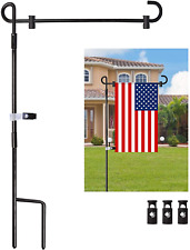 """Oathx Garden Flag Pole Stand Durable Flagpole18 35.5"""" Yard Banner Pole Stand For"""