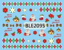 Nailart stickers décalcomanie ongles décorations de Noël cloches merry christmas
