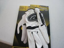CALLAWAY  2 MENS CALLAWAY XTREME 365 GOLF GLOVES LARGE WHITE/BLACK NEW