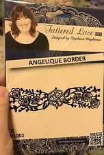 Tattered Lace Die Angelique Border Wafer Thin Detailed Lacy Lacey Flowers Floral