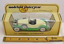 MATCHBOX MODELS OF YESTERYEAR 1931 STUTZ BEARCAT CAR Y-14