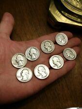 Full Dates 4 Silver Coins $1 Face Value 90% Silver Washington Quarters