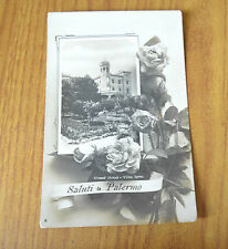 CARTOLINA SALUTI DA PALERMO GRAN HOTEL VILLA IGEA VIAGGIATA 1909 SUBALPINA KK