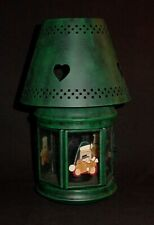 Christmas Santa Tea Light Tin Candle Lamp
