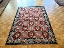 6x9 Hand woven French Aubusson Needle point 100% wool Area rug