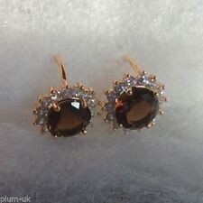 Huggie Round Yellow Gold Filled Leverback Costume Earrings