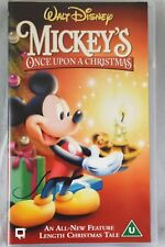 Walt Disney Video Mickey's Once Upon A Christmas VHS PAL UK Clamshell Movie