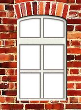 LC09 - Laser cut Small Curved Top Sash Windows O scale pk of 6 Smart Models