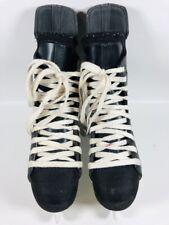 BAUER Impact 75 Mens Size 7R Black Ice Hockey Skates TUUK Fasteel Blades
