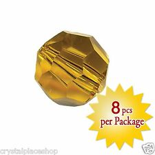 Swarovski Crystal 8mm Light Topaz Beads, Package of 8