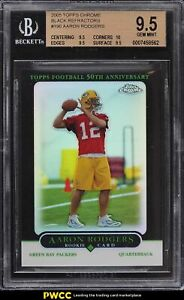 2005 Topps Chrome Black Refractor Aaron Rodgers ROOKIE RC 1/100 #190 BGS 9.5 GEM