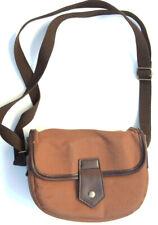 Herringbone Classic Comfort Shoulder Brown Camera Bag Small Size 3x8x6 in