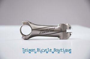 "RIKULAU Titanium Bike Stem, Lengths: 80/90/100/110/120mm, 1 1/8"" 31.8mm SEAMLESS"