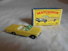 Matchbox Lesney No39 Pontiac convertible boxed