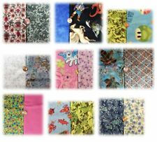 Set of Coordinating Fat Quarters, Fabric for Sewing Crafts Masks, pair cotton FQ
