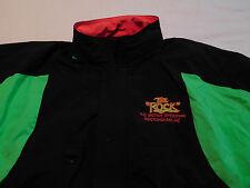 The Rock NC Motor Speedway Rockingham Jacket Coat NASCAR L Large 80s 90s Neon