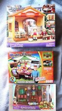 LOT 3 MIGHTY WORLD: TOWN LIFE (BAKERY, BARBEQUE & LILLY´S FLOWER GARDEN). BNIB!