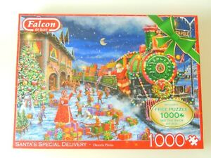 FALCON 2 X 1000 PIECE SANTA SPECIAL DELIVERY CHRISTMAS JIGSAW PUZZLES NEW SEALED